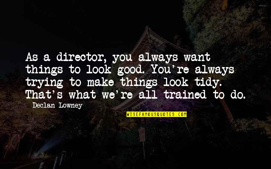 Always Look For The Good Quotes By Declan Lowney: As a director, you always want things to