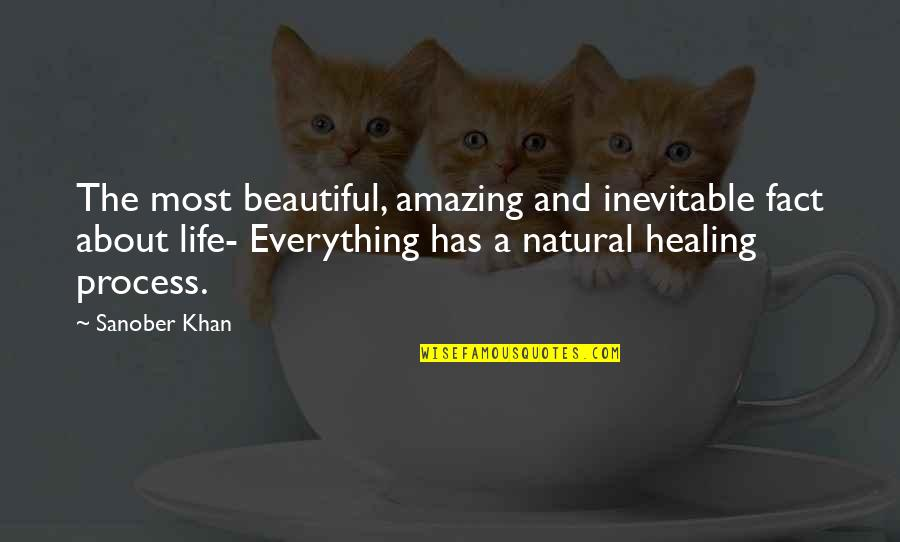 Amazing Facts Quotes By Sanober Khan: The most beautiful, amazing and inevitable fact about