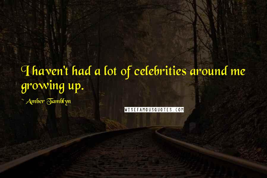 Amber Tamblyn quotes: I haven't had a lot of celebrities around me growing up.