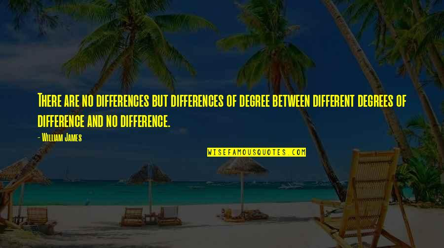 Ambien Quotes By William James: There are no differences but differences of degree