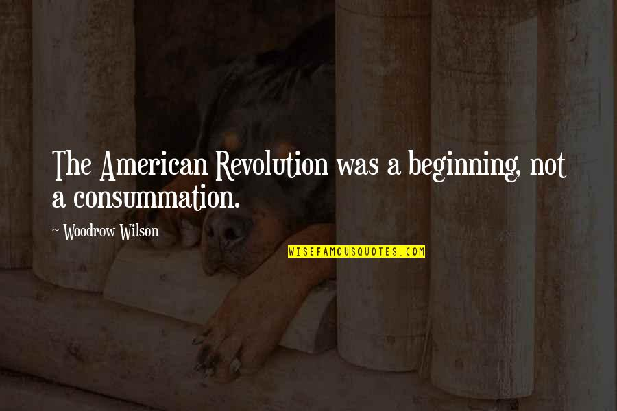 American Revolution Quotes By Woodrow Wilson: The American Revolution was a beginning, not a