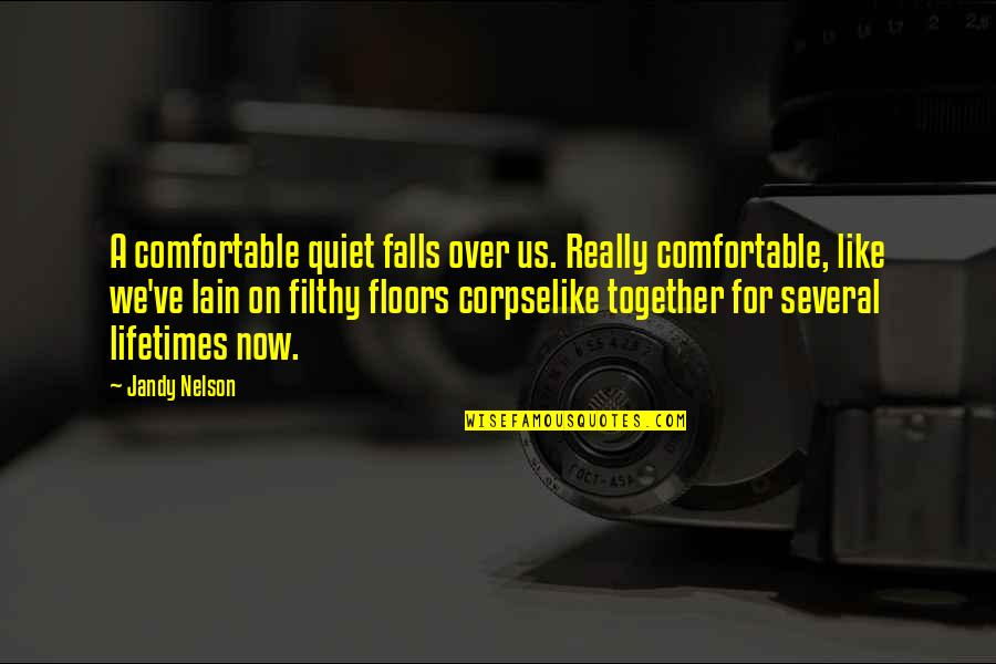 American Sniper Famous Quotes By Jandy Nelson: A comfortable quiet falls over us. Really comfortable,