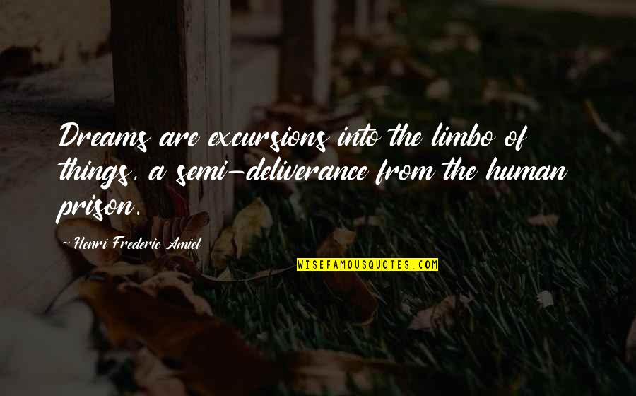 Amiel Quotes By Henri Frederic Amiel: Dreams are excursions into the limbo of things,