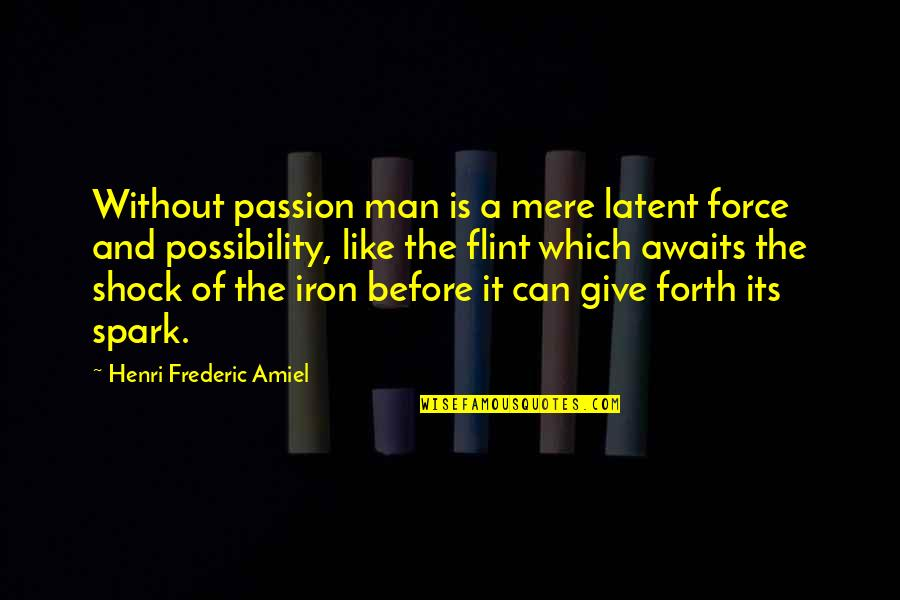 Amiel Quotes By Henri Frederic Amiel: Without passion man is a mere latent force