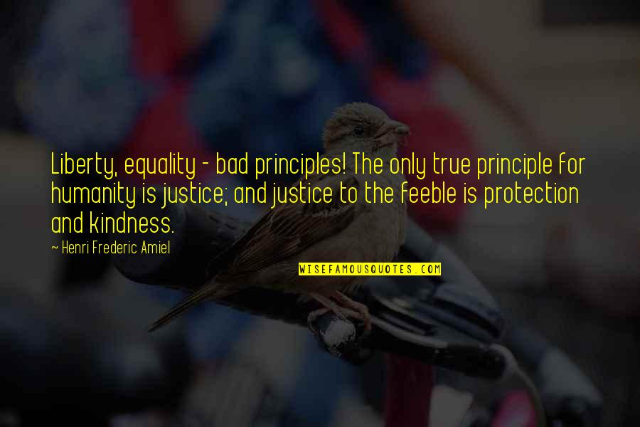 Amiel Quotes By Henri Frederic Amiel: Liberty, equality - bad principles! The only true