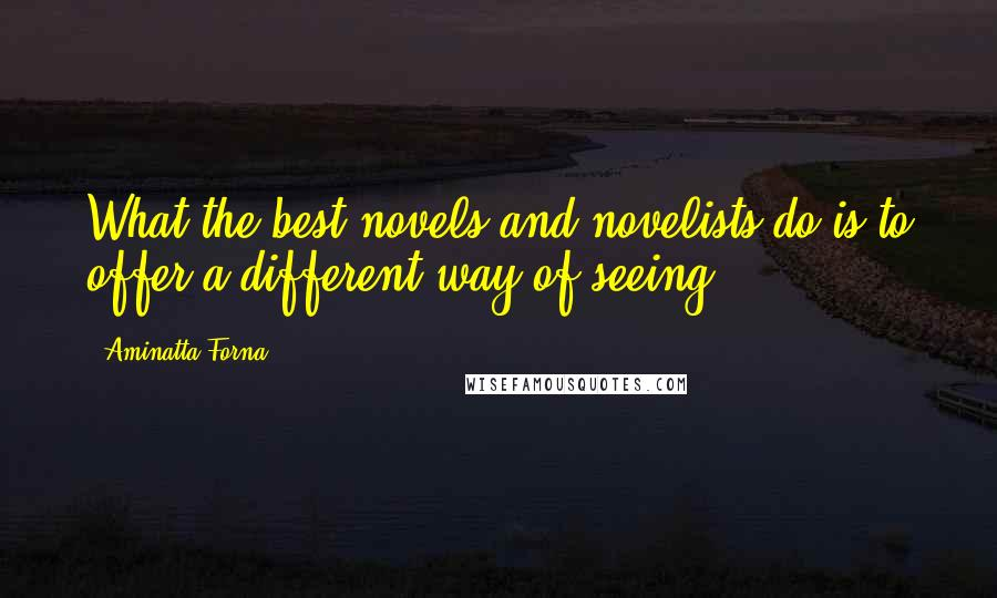 Aminatta Forna quotes: What the best novels and novelists do is to offer a different way of seeing.
