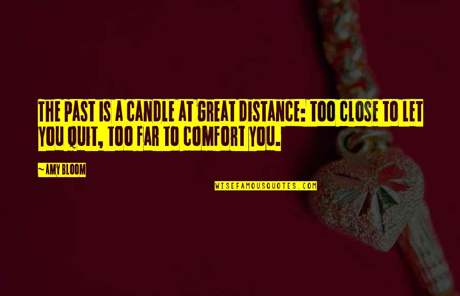 Amy Bloom Quotes By Amy Bloom: The past is a candle at great distance: