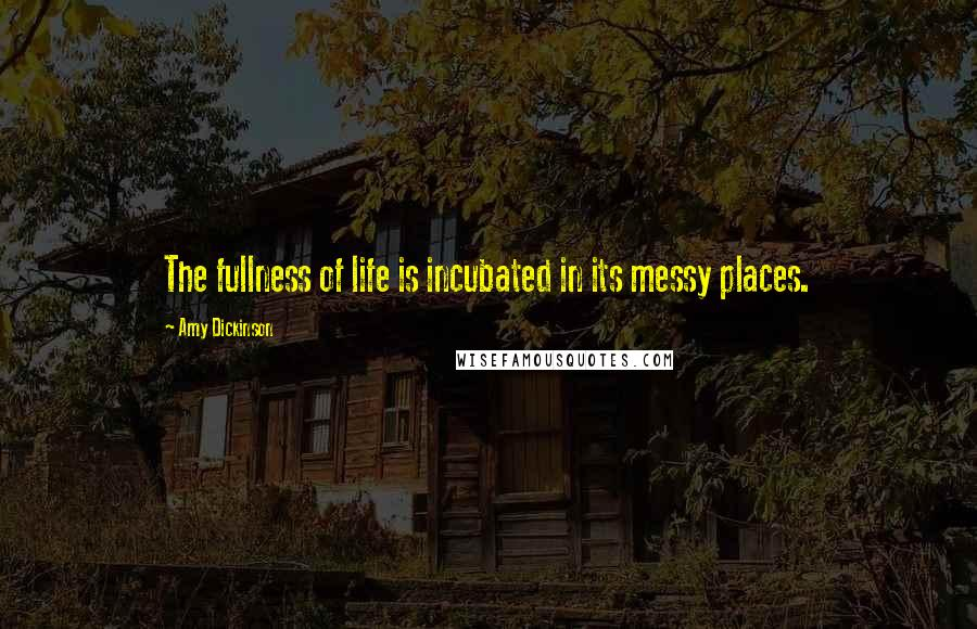 Amy Dickinson quotes: The fullness of life is incubated in its messy places.