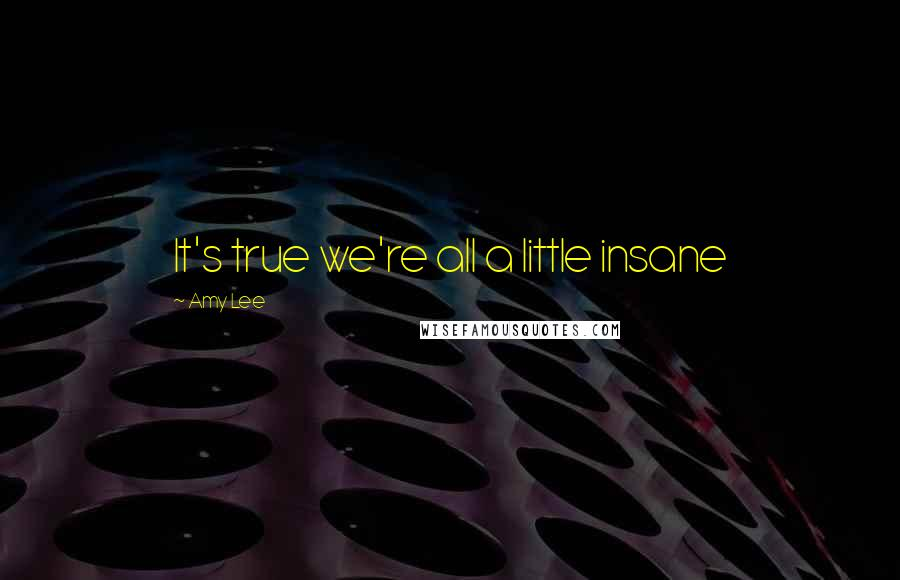 Amy Lee quotes: It's true we're all a little insane