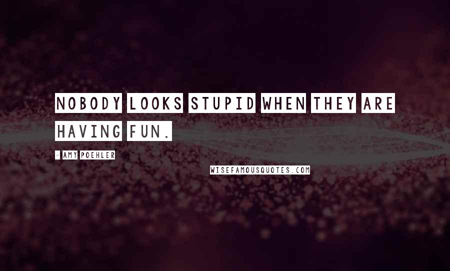 Amy Poehler quotes: Nobody looks stupid when they are having fun.