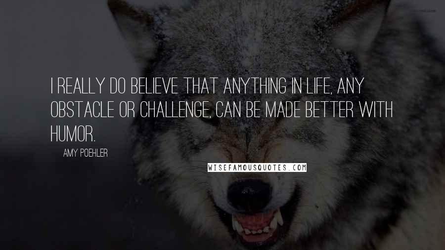 Amy Poehler quotes: I really do believe that anything in life, any obstacle or challenge, can be made better with humor.