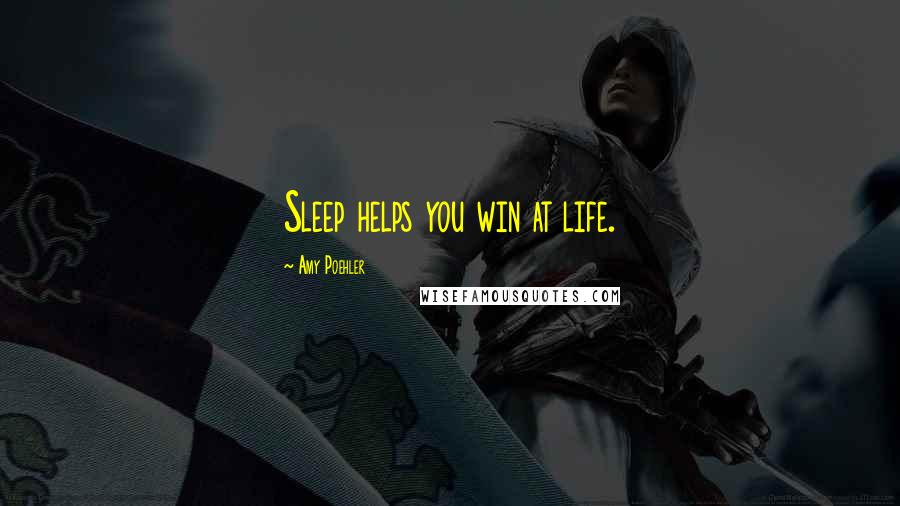 Amy Poehler quotes: Sleep helps you win at life.