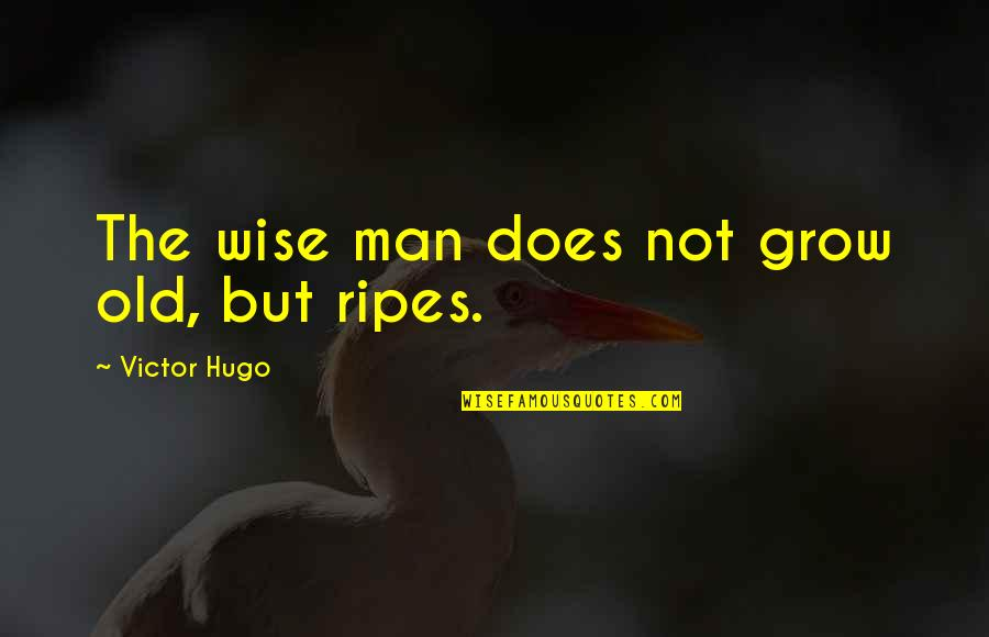 An Old Wise Man Quotes By Victor Hugo: The wise man does not grow old, but