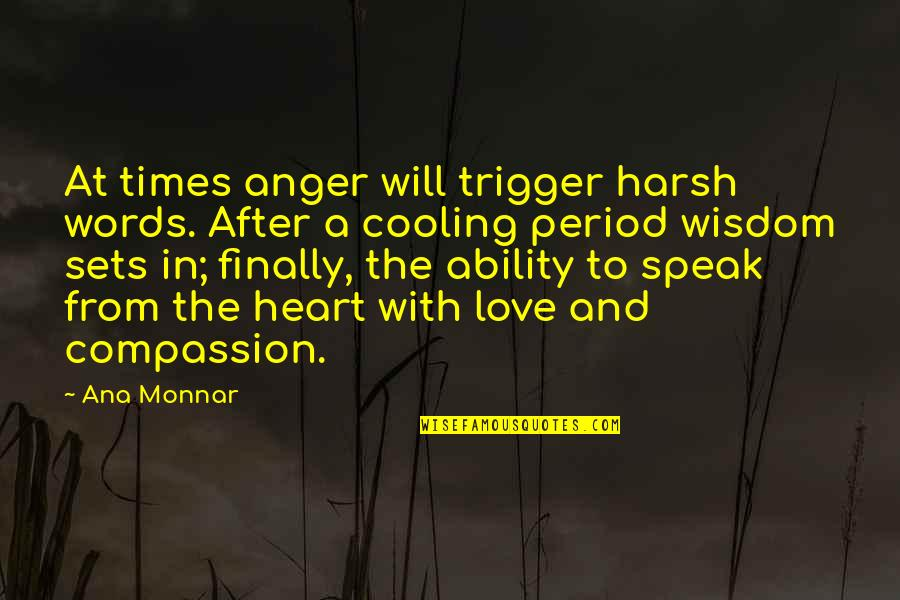 Ana Monnar Quotes By Ana Monnar: At times anger will trigger harsh words. After