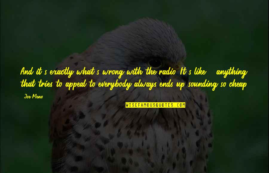 And So It Ends Quotes By Joe Meno: And it's exactly what's wrong with the radio.