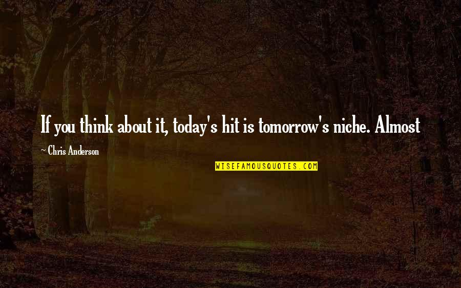 Anderson's Quotes By Chris Anderson: If you think about it, today's hit is
