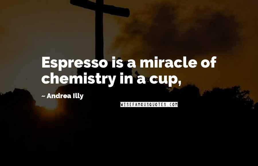 Andrea Illy quotes: Espresso is a miracle of chemistry in a cup,