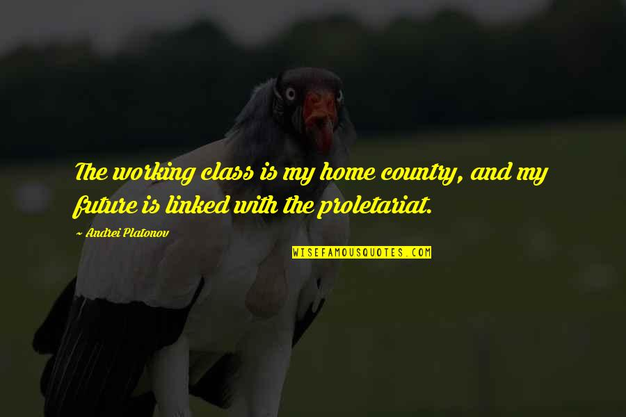 Andrei Platonov Quotes By Andrei Platonov: The working class is my home country, and