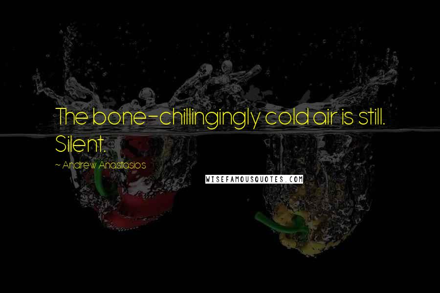 Andrew Anastasios quotes: The bone-chillingingly cold air is still. Silent.