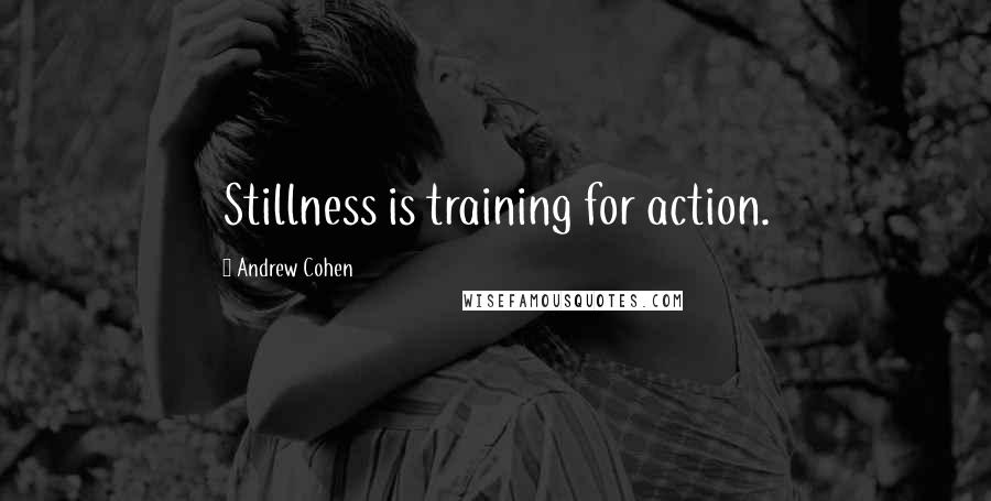 Andrew Cohen quotes: Stillness is training for action.