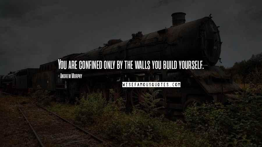 Andrew Murphy quotes: You are confined only by the walls you build yourself.