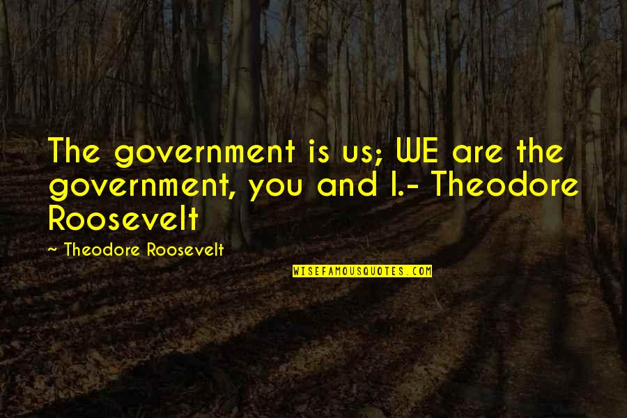 Andrew Newberg Quotes By Theodore Roosevelt: The government is us; WE are the government,