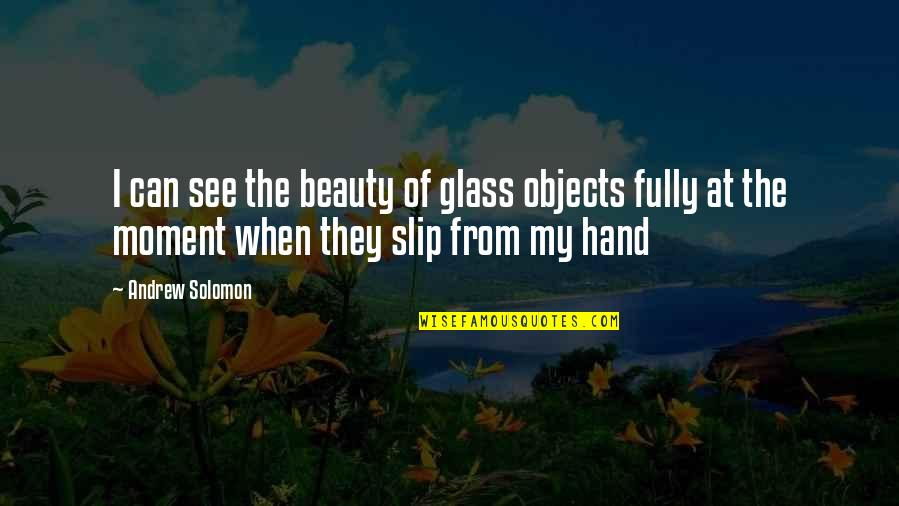 Andrew Solomon Best Quotes By Andrew Solomon: I can see the beauty of glass objects