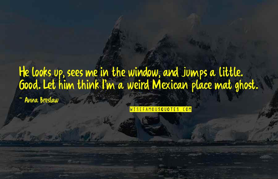 Andy Biersack Sandpaper Quotes By Anna Breslaw: He looks up, sees me in the window,
