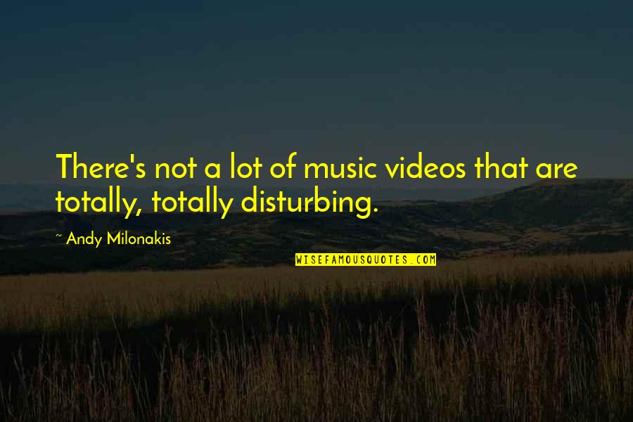 Andy Milonakis Quotes By Andy Milonakis: There's not a lot of music videos that