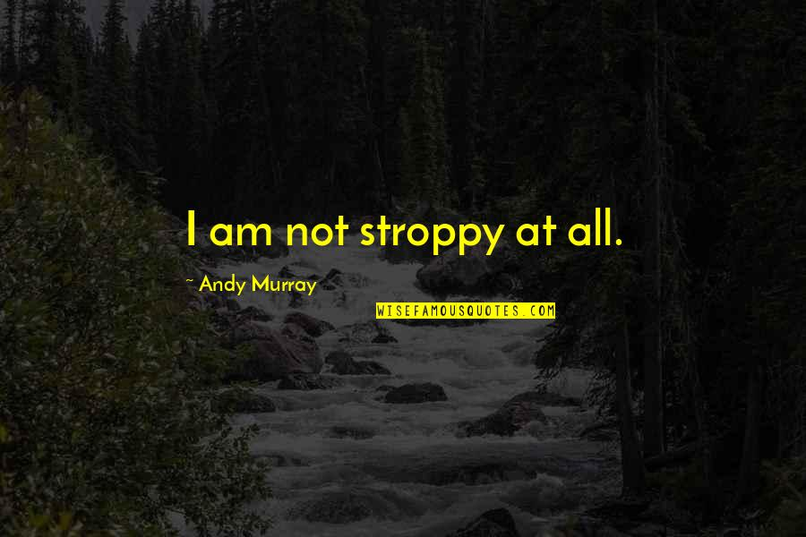 Andy Murray Quotes By Andy Murray: I am not stroppy at all.