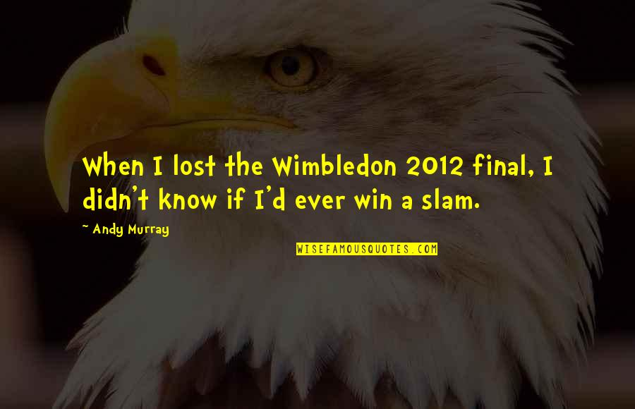 Andy Murray Quotes By Andy Murray: When I lost the Wimbledon 2012 final, I