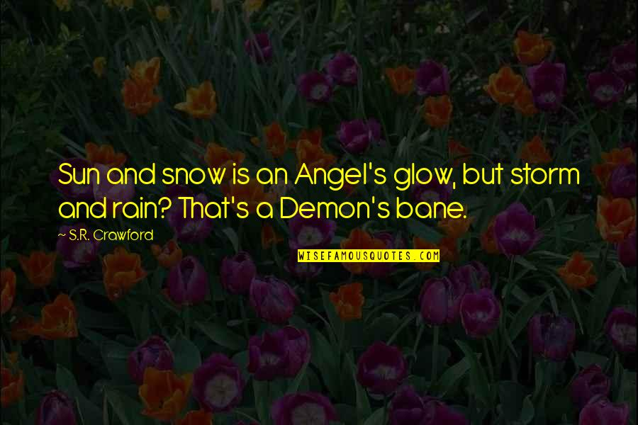 Angel Vs Demon Quotes By S.R. Crawford: Sun and snow is an Angel's glow, but
