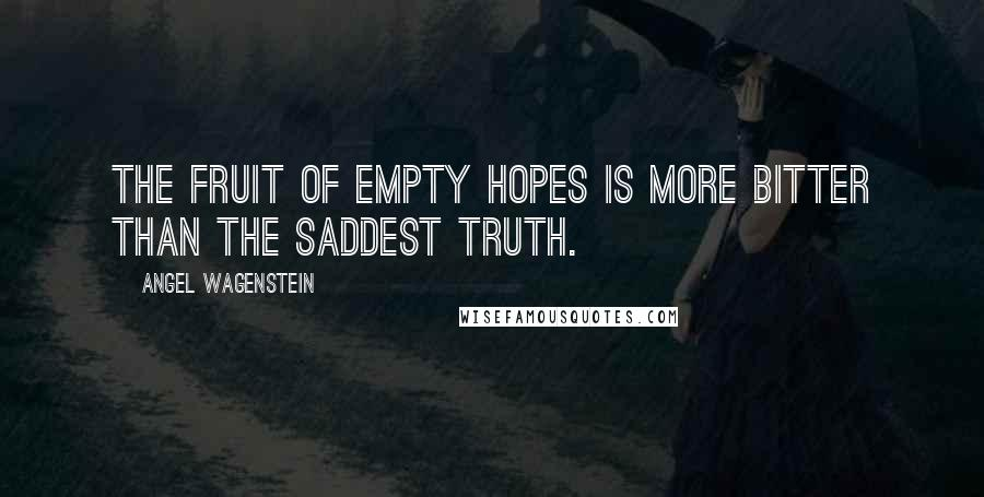 Angel Wagenstein quotes: The fruit of empty hopes is more bitter than the saddest truth.