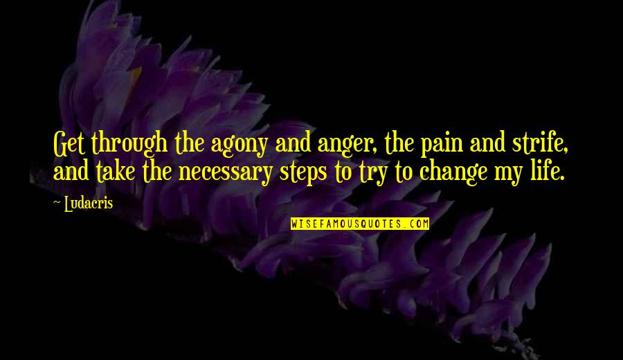Anger And Change Quotes By Ludacris: Get through the agony and anger, the pain