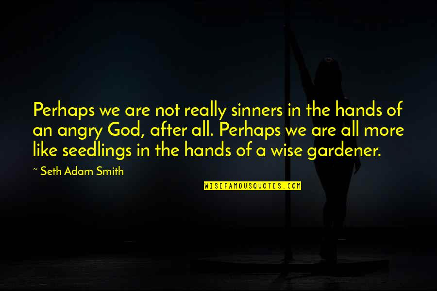 Angry But Loving Quotes By Seth Adam Smith: Perhaps we are not really sinners in the