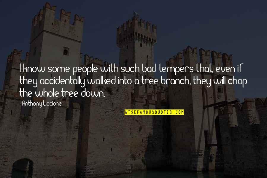 Angry People Quotes By Anthony Liccione: I know some people with such bad tempers