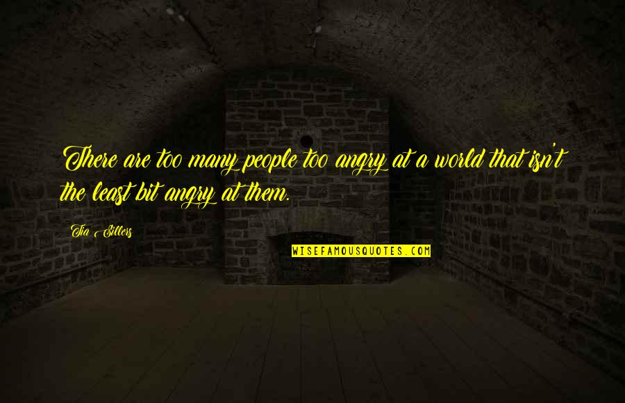 Angry People Quotes By Tia Sillers: There are too many people too angry at