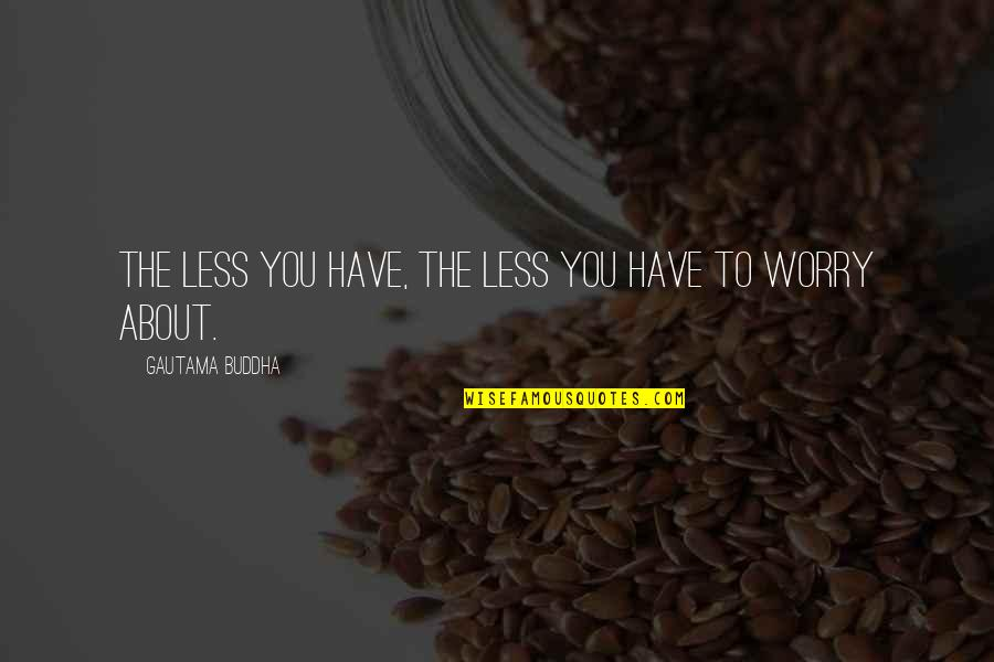 Anibal Barca Quotes By Gautama Buddha: The less you have, the less you have