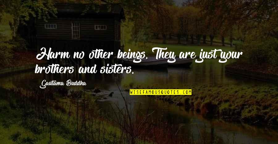 Animal Quotes By Gautama Buddha: Harm no other beings. They are just your