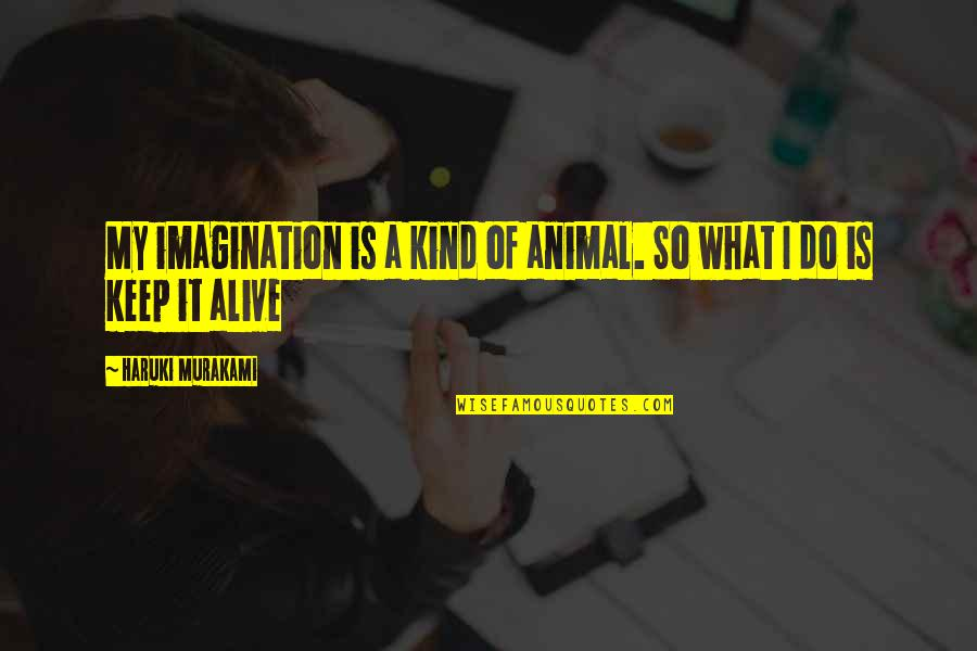 Animal Quotes By Haruki Murakami: My imagination is a kind of animal. So