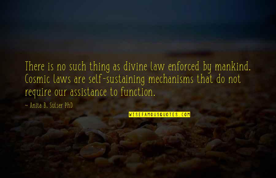 Anita Quotes By Anita B. Sulser PhD: There is no such thing as divine law