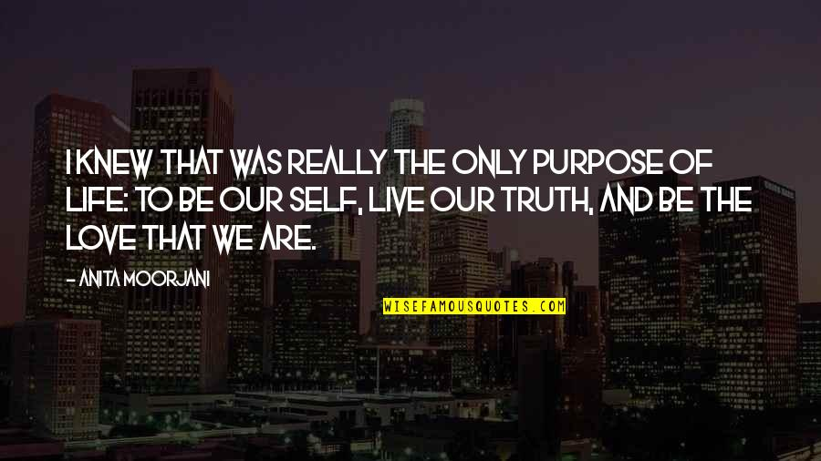 Anita Quotes By Anita Moorjani: I knew that was really the only purpose