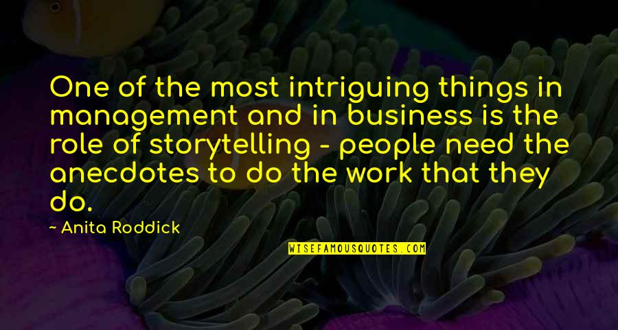 Anita Quotes By Anita Roddick: One of the most intriguing things in management