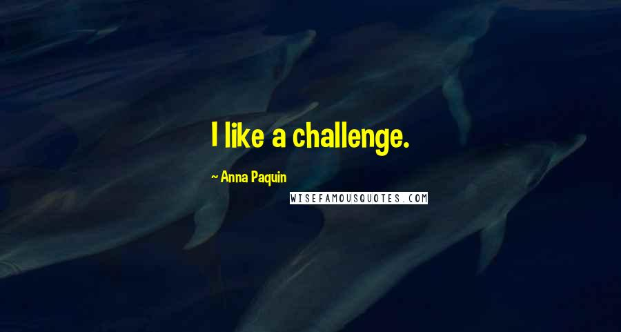Anna Paquin quotes: I like a challenge.