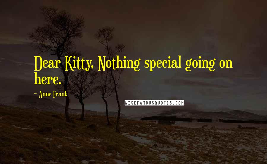 Anne Frank quotes: Dear Kitty, Nothing special going on here.