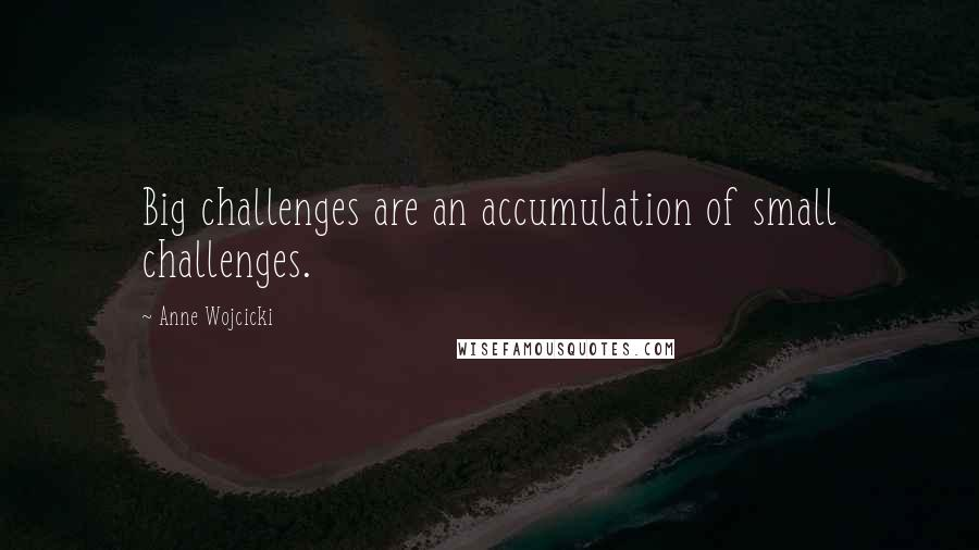 Anne Wojcicki quotes: Big challenges are an accumulation of small challenges.