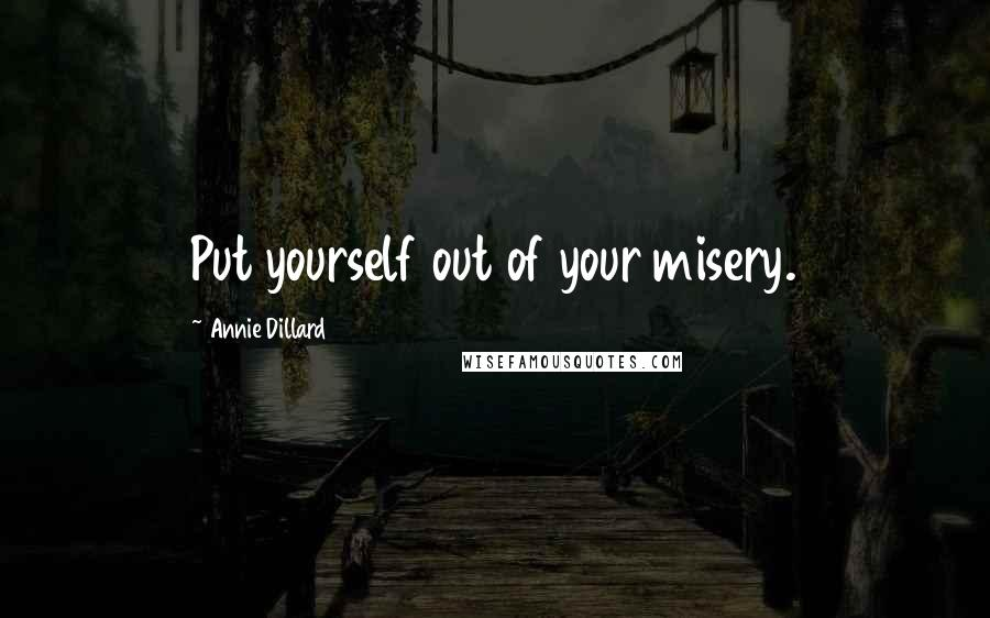 Annie Dillard quotes: Put yourself out of your misery.