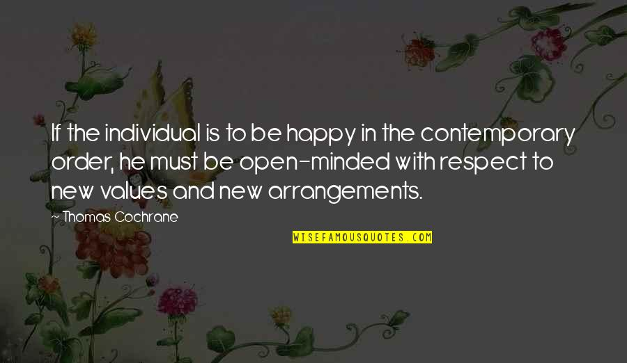 Anno Domini Quotes By Thomas Cochrane: If the individual is to be happy in