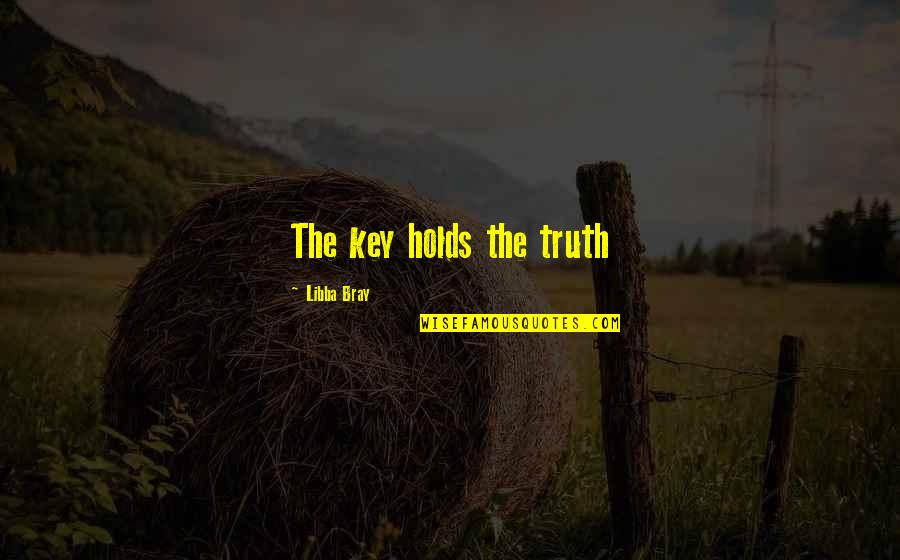 Anonymous V For Vendetta Quotes By Libba Bray: The key holds the truth