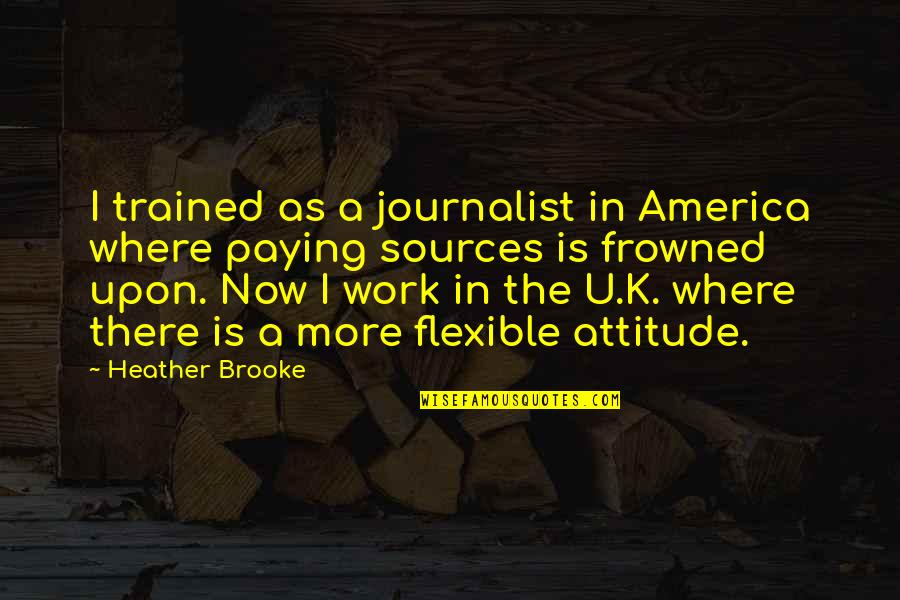 Another Day Passes Quotes By Heather Brooke: I trained as a journalist in America where
